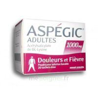 Aspegic Adultes 1000 Mg, Poudre Pour Solution Buvable En Sachet-dose 20 à CHENÔVE