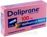 DOLIPRANE 100 mg Suppositoires sécables 2Plq/5 (10) à CHENÔVE