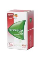 Nicorette 2 mg Gomme à mâcher médicamenteuse sans sucre fruits Plq/105 à CHENÔVE