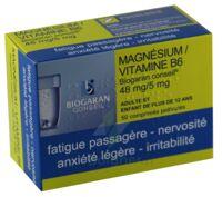 MAGNESIUM/VITAMINE B6 BIOGARAN CONSEIL 48 mg/5 mg, comprimé pelliculé à CHENÔVE