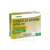 Citrate De Bétaïne Upsa 2 G Comprimés Effervescents Sans Sucre Menthe édulcoré à La Saccharine Sodique T/20 à CHENÔVE