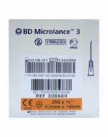 BD MICROLANCE 3, G25 5/8, 0,5 mm x 16 mm, orange  à CHENÔVE