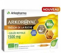 Arkoroyal Gelée royale bio sans sucre 1500mg Solution buvable 20 Ampoules/10ml à CHENÔVE