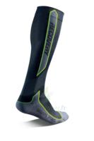 Recovery Chaussettes  Mixte Classe  Noir/vert Medium 43-46 à CHENÔVE