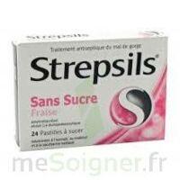 STREPSILS FRAISE SANS SUCRE, pastille édulcorée à l'isomalt, au maltitol et à la saccharine sodique à CHENÔVE