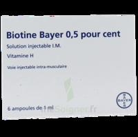 BIOTINE BAYER 0,5 POUR CENT, solution injectable I.M. à CHENÔVE