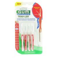Gum Trav-ler 4 Brossettes Rouge Interdentaires 0.8mm à CHENÔVE