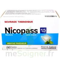 Nicopass 1,5 mg Pastille sans sucre menthe fraîcheur Plq/96 à CHENÔVE