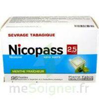 Nicopass 2,5 Mg Pastille Menthe Fraîcheur Sans Sucre Plq/96 à CHENÔVE