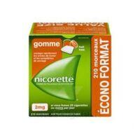 Nicorette 2 Mg Gomme à Mâcher Médicamenteuse Sans Sucre Fruits Plq/210 à CHENÔVE