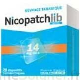 NICOPATCHLIB 14 mg/24 h Dispositifs transdermiques B/28 à CHENÔVE