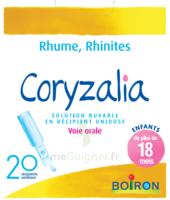 Boiron Coryzalia Solution buvable unidose B/20 à CHENÔVE