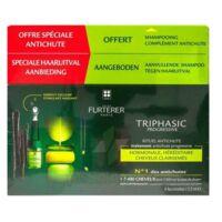 René Furterer Triphasic Progressive Sérum Antichute Coffret 8 Flacons X 5,5ml + Shampoing Stimulant 100 Ml à CHENÔVE