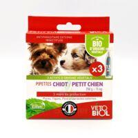 Vétobiolbio Pipettes Antiparasitaire Chiot Petit Chien B/3 à CHENÔVE